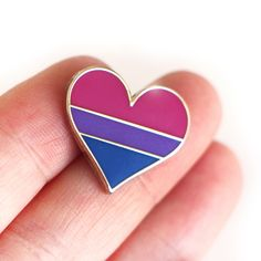 Bisexual pride pin, gay lapel pin, bisexual flag pin, heart enamel pin, gay decoration, bi community by CompocoPop on Etsy https://www.etsy.com/listing/471177297/bisexual-pride-pin-gay-lapel-pin