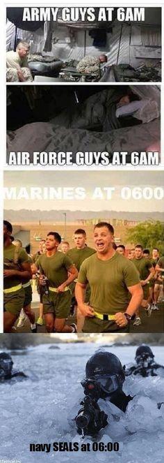 army, air force, marines, navy SEALs.