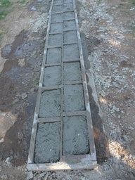 DIY: papercrete blocks in molds
