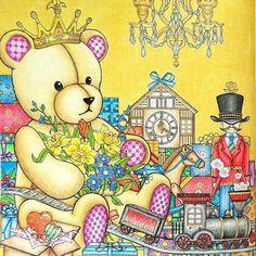 Vsechne Dary Sveta - Czech edition of The Night Voyage by Daria Song 1/2 As you can see this edition has no wallpaper behind the bear  #adultcoloring #adultcolouring #sztukakolorowania #desenhoscolorir #creativelycoloring #coloringmasterpiece #boracolorirtop #colouring_secrets #docepapelatelierr #bayan_boyan #coloringaddict #coloringart #nossa_vida_colorida #arte_e_colorir #dariasong #vsechnydarysveta #thenightvoyage