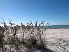 A beautiful blue sky over Fort Myers Beach | by Kristine Paulus, via Flickr