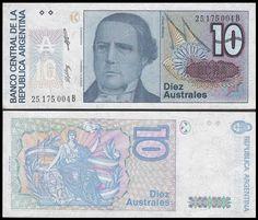Argentina 10 Australes, 1985-1989, 325b