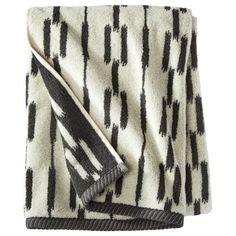 Nate Berkus™ Ikat Link Bath Towel in Charcoal, $9.99