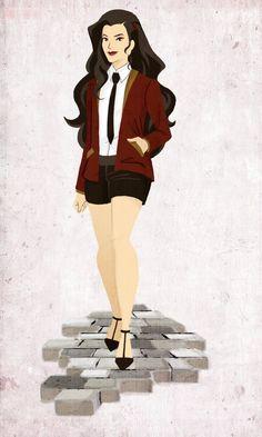 Asami on the Sidewalk by tetragona on DeviantArt