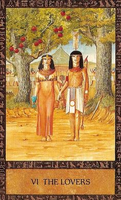 VI. The Lovers - Ancient Egyptian Tarot by Clive Barrett