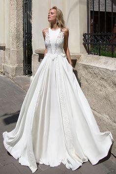 Robe de mariée élégante – Création Azure (devant)