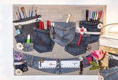 Praktischer Organizer aus alten Jeans-Hosen