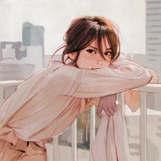 "kuvshinov-ilya: "" Cityscape www.patreon.com/... Short study from photo in Japanese magazine! """