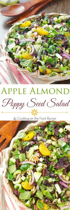 Stop looking for the perfect salad! You have found it - loaded with crunchy almonds, celery, craisins, bleu cheese, oranges, pasta and a creamy poppy seed dressing! It's the best!!!