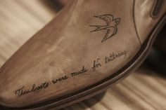These boots were made for tattooing