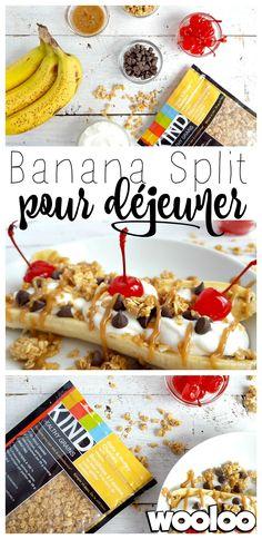 C'est l'fun déjeuner. Ça m'inspire tellement de belles idées! Est-ce que mon banana split vous donne faim? ;) #collationsKIND