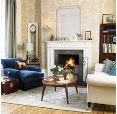This living room reflects a subtle formal and distinctive elegant style which is the trademark of the British-Eclectic Style. Description from rilane.com. I searched for this on bing.com/images