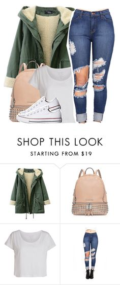 """Go tell your friends about it"" by queen-tiller ❤ liked on Polyvore featuring moda, MICHAEL Michael Kors, Pieces, Converse, women's clothing, women, female, woman, misses ve juniors"