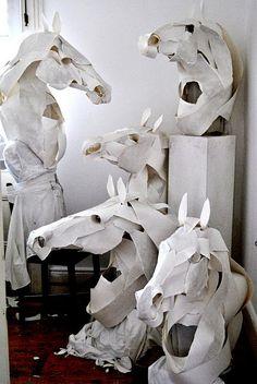 Paper sculptures of animals  by Sydney-based artist Anna-Wili Highfield