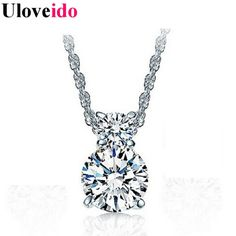 Find More Pendants Information about One Piece Necklace Bijoux Women Crystal Pendants for Women with Chains White Jewelry Colares Femininos Girl Aneis Uloveido YDF01,High Quality pendant light shades glass,China pendant glass Suppliers, Cheap pendant factory from Uloveido Official Store on Aliexpress.com