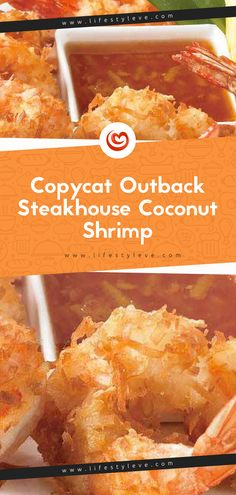 Copycat Outback Steakhouse Coconut Shrimp These are tender crispy shrimp with a light flaky coconut coating on the outside. And with this recipe for Copycat Outback Steakhouse Coconut Shrimp there is no need to visit the steakhouse to have them! Coconut Shrimp Sauce, Coconut Shrimp Recipes, Outback Steakhouse Coconut Shrimp Recipe, Outback Recipes, Outback Steakhouse Recipes, Restaurant Recipes, Recipes Dinner, Clean Eating Snacks, Food And Drink