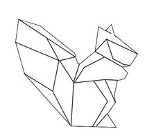 geometric animal lines - Google Search