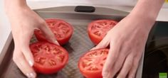 Sliced Tomatoes on Baking Tray | These Baked Parmesan Tomatoes Are a Quick and Easy Healthy Side Dish