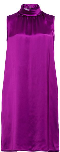 Elegant purple shift dress, Oscar de la Renta Purple Sleeveless Roll Collar Shift Dress
