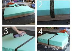 The Homes I Have Made: How to Make an Oversized Ottoman {Tutorial}