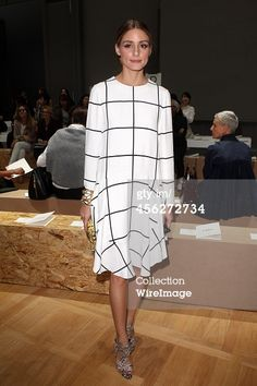 Olivia Palermo attends the Chloe show as part of...