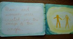 Waldorf ~ 3rd grade ~ Old Testament Stories ~ Creation: Day Six ~ main lesson book ~ watercolor painting