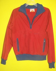 Vintage 70's 80s SUNBUSTER Mens Rust Pocketed Pullover MEDIUM Jacket M #Sunbuster #BasicJacket