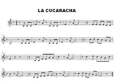 partitura la cucaracha flauta - Búsqueda de Google Sheet Music, Flute, Cooperative Learning, Roaches, Google Search, Music Sheets