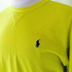 Polo Ralph Lauren Jeans Yellow Pull Over Long Sleeve Shirt Men's XL 100% Cotton #PoloRalphLauren #Pullover