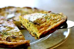 Zucchini Ricotta Frittata ~ Zucchini frittata made with eggs, ricotta and Parmesan cheese, zucchini, basil and thyme. ~ SimplyRecipes.com