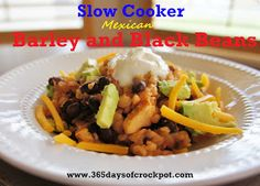 365 Days of Slow Cooking: Slow Cooker Mexican Barley and Black Beans