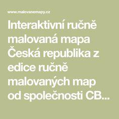 Interaktivní ručně malovaná mapa Česká republika z edice ručně malovaných map od společnosti CBS s.r.o.