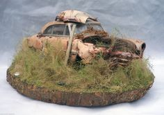 1951 Chevy Bel Air Barn Find Weathered Pro Built Diorama AMT 1 25 Plastic OOAK   eBay