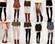 Nem todas as meias altas são iguais  -existem aquelas que são altas e se situam muito acima do joelho , existem outras que tapam os joelhos...
