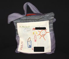 Personalized embroidered bag (from a kid's drawing)