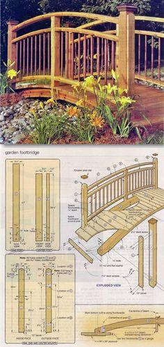 Garden Footbridge - Outdoor Plans and Projects   http://WoodArchivist.com