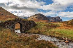 Glen Coe Old Road Bridge. Autumn. Highland Scotland.