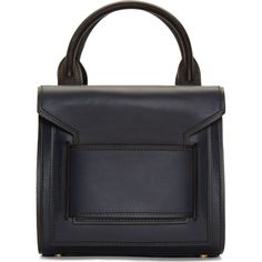 Pierre Hardy: Navy Carryover Mini Box Tote