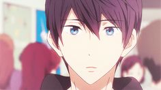 Cute Haru from episode 13 when Makoto greets him and Rin welcome back after their trip to Australia ...  Free! - Iwatobi Swim Club, haruka nanase, haru nanase, haru, free!, iwatobi, nanase