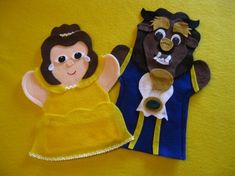 Beauty and the Beast Puppets on Storenvy