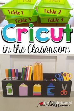 Cricut for the classroom ideas!