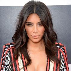 Kim k West natural make up soft waves