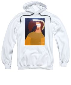 Patrick Francis White Designer Hooded Sweatshirt featuring the painting Portrait Of Marianna Of Austria 2015 - After Diego Velazquez by Patrick Francis