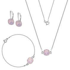 Komplet z kryształami Swarovski Swarovski, Silver, Jewelry, Jewlery, Jewerly, Schmuck, Jewels, Jewelery, Fine Jewelry