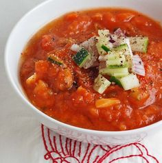 Gazpacho, the perfect no cook meal!