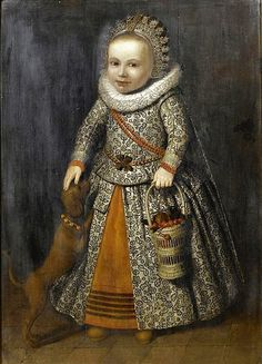 Children with their dogs from the 16C & 17C 1604 Lavinia Fontana (1552-1614) Portrait of Bianca Degli Utili Maselli with Six of Her ...
