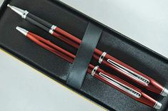 Cross Made in the USA Ion Solar Red Barrel with  Gel Ink Rollerball Pen