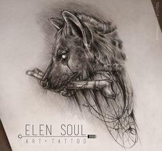 https://www.askideas.com/media/03/Hyena-with-bone-tattoo-by-Elen-Soul.jpg