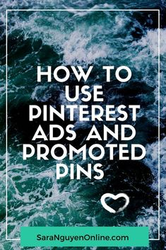 Using promoted pins on Pinterest to grow your online business Pinterest Advertising, Pinterest Marketing, Advertising Strategies, Social Media Ad, Pinterest App, Pinterest For Business, Online Business, Business Tips, Website