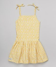 Yellow Daisy Sunnie Tie Dress - Infant, Toddler & Girls